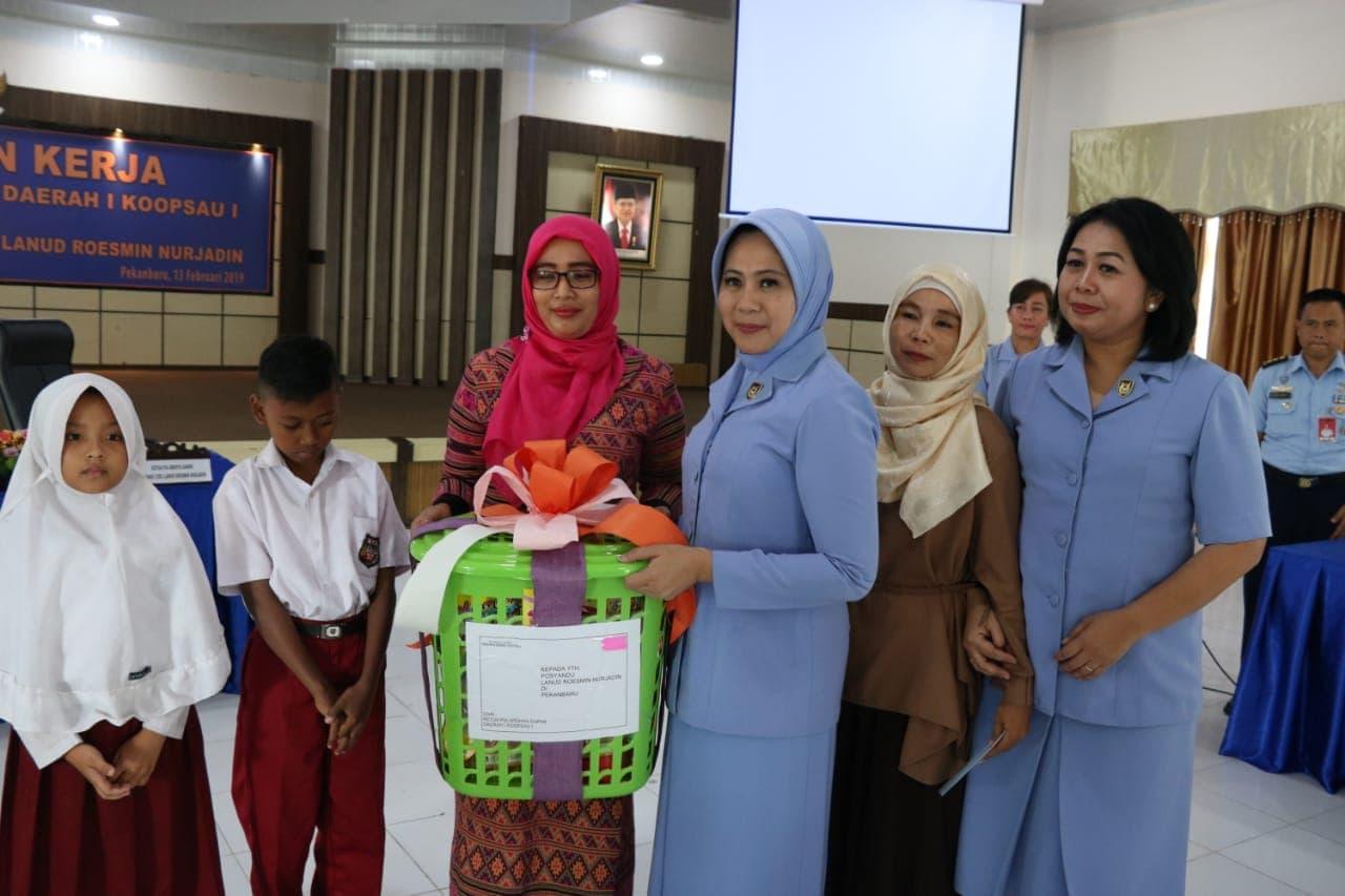 Ketua PIA AG Koopsau I Ajak Pengurus PIA AG Cabang 12/D.I Lanud Roesmin Nurjadin Kembangkan Bidang Pendidikan