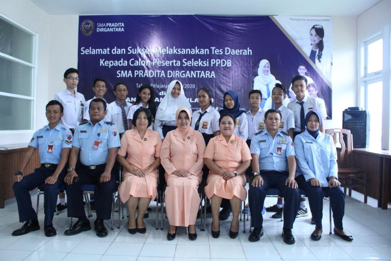 Seleksi Penerimanaan Peserta Didik Baru SMA Pradita Dirgantara Tahun Pelajaran 2019/2020 di Lanud Sam Ratulangi