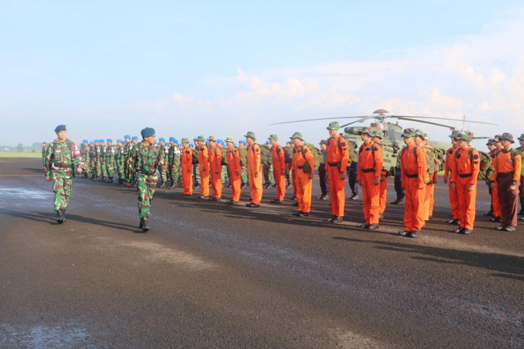 Komandan Lanud Atang Sendjaja Buka Latihan Survival Dasar Sangga Langit T.A 2019