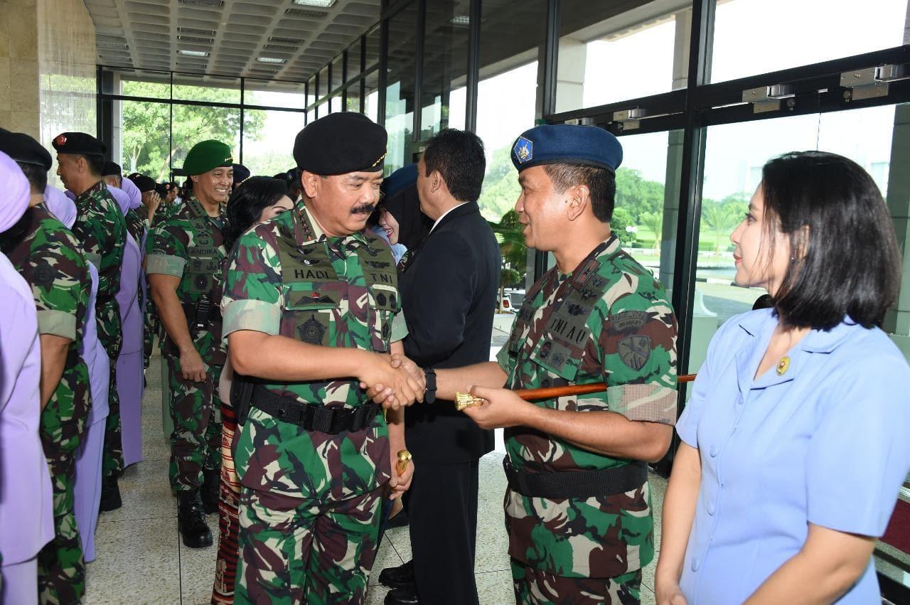 Danlanud Adisutjipto Melaksanakan Laporan Kenaikan Pangkat Marsekal Pertama TNI