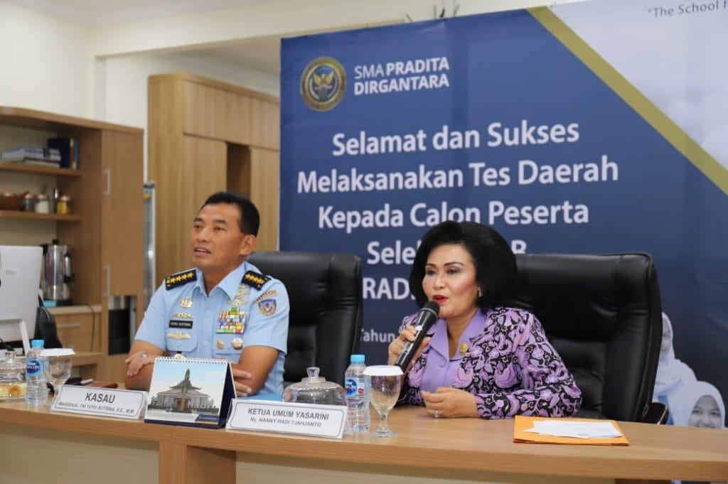 Seleksi PPDB SMA Pradita Dirgantara T.A 2019/2020, Ketum Yasarini Beri Apresiasi Kinerja Tiap Panda
