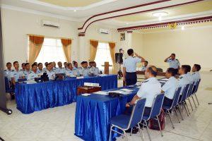 Entry Briefing Tim Wasrikkap Itjenau di Lanud Pangeran M. Bun Yamin
