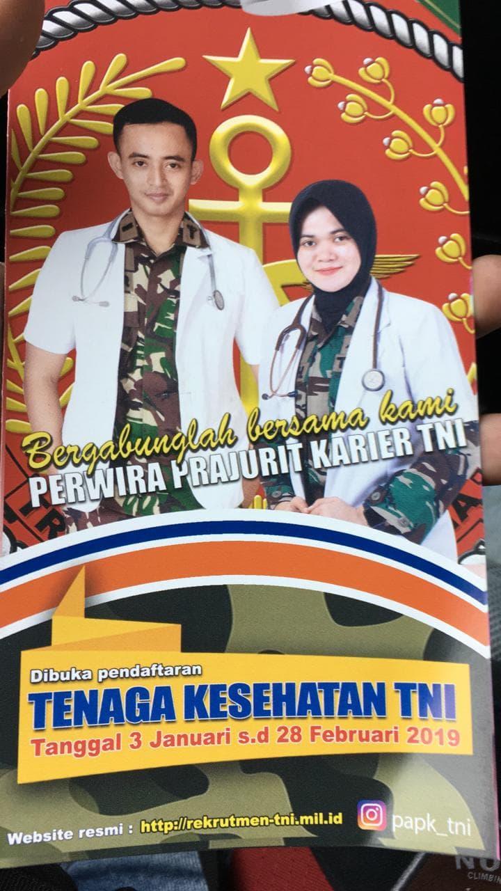 Pendaftaran Tenaga Kesehatan TNI Tahun 2019 Dibuka Sampai Akhir Februari