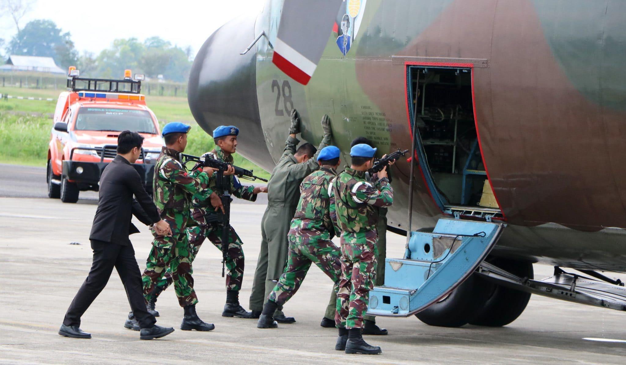 Pesawat Asing Turun Secara Paksa di Lanud Sultan Iskandar Muda