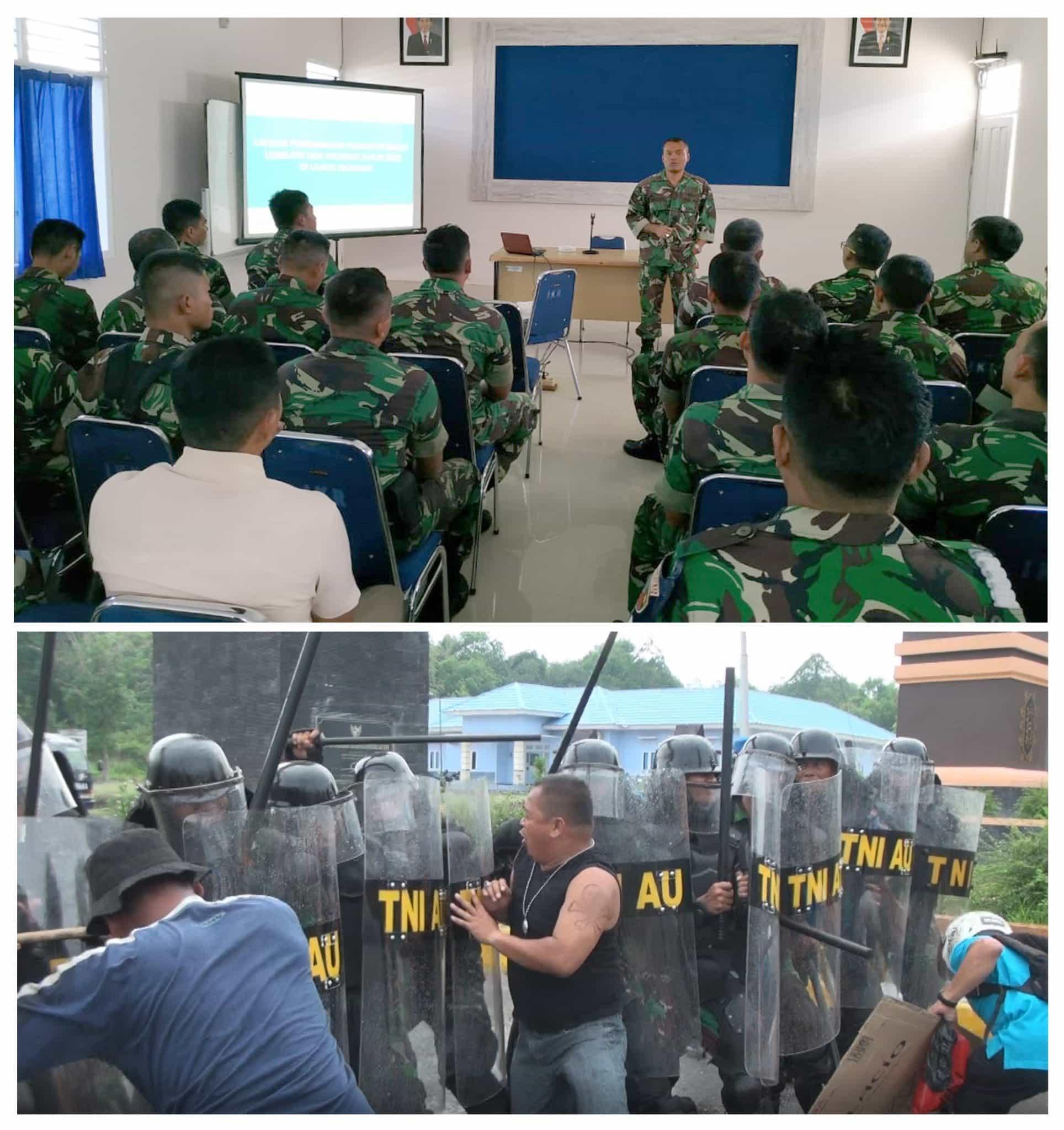 Latihan Pengamanan Pemilu 2019 di Lanud Iskandar