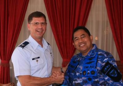 Akademi Angkatan Udara Menerima Kunjungan Professor Of Military Science Amerika Serikat