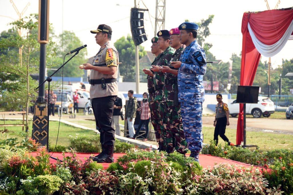 Gelar Pasukan Pengamanan Pemilu Tahun 2019 di Provinsi Lampung