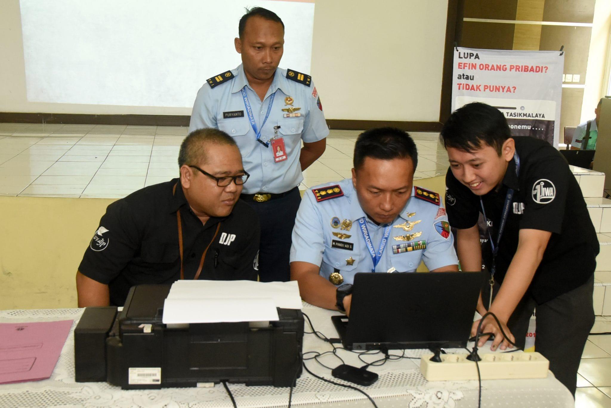 Pelaporan SPT Tahunan Pajak 2018 di Lanud Wiriadinata