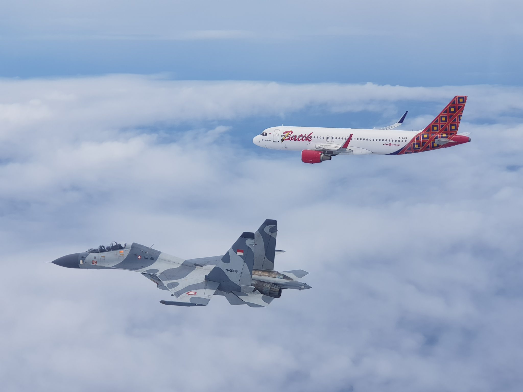 Pesawat Tempur Sukhoi SU-27/30 MK Escort dan Forcedown Pesawat Asing