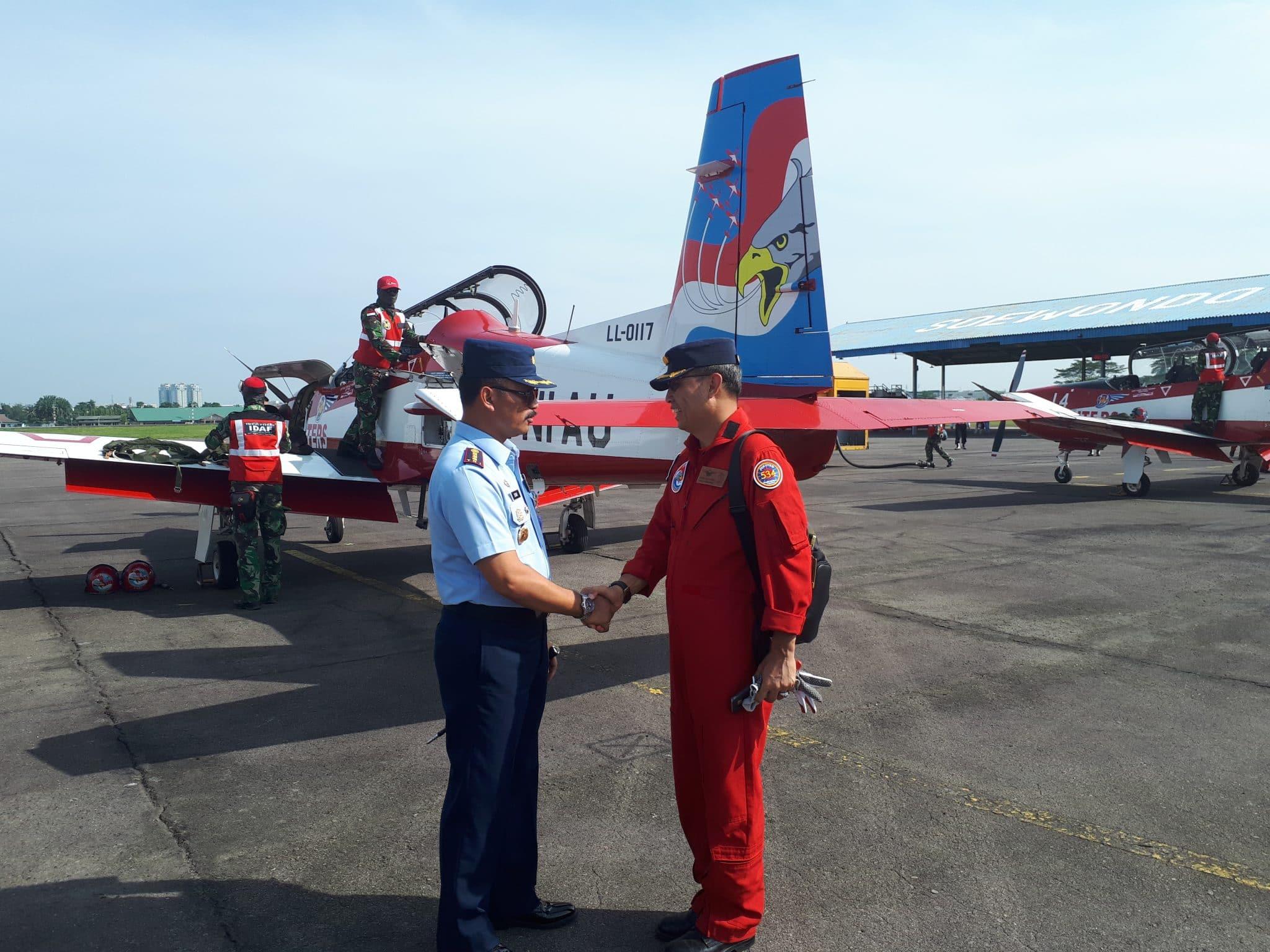 Danlanud Soewondo Sambut Kedatangan JAT dari Langkawi