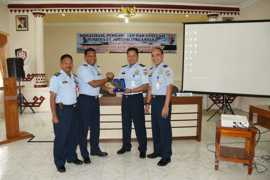 Lanud Pangeran M. Bun Yamin Menerima Kunjungan dari Tim Aspotdirga
