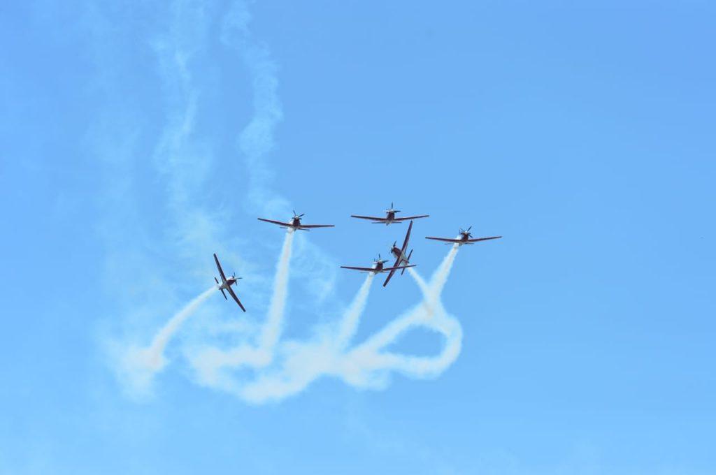 Ajang LIMA'19 Tampilkan 14 Formasi Aerobatik, JAT Memukau Pengunjung