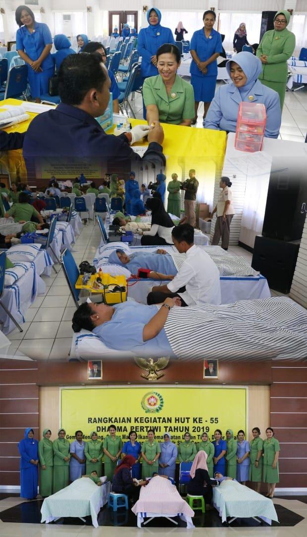 Donor Darah Dalam Rangka HUT Dharma Pertiwi Ke-55 TA. 2019