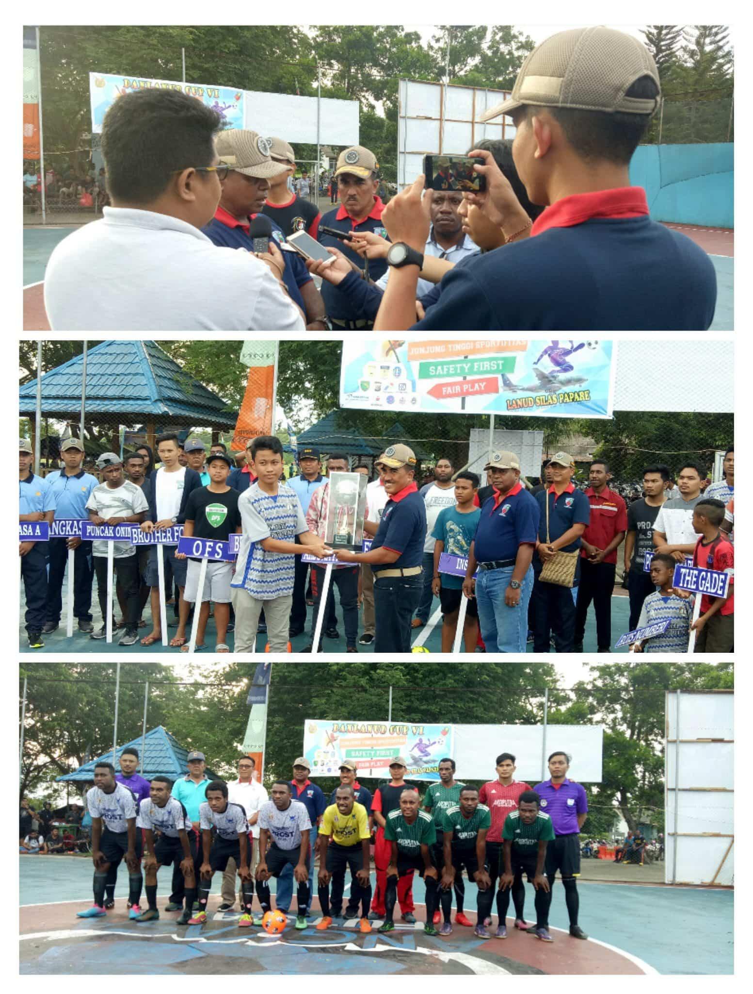 Pembukaan Turnamen Futsal Danlanud Cup VI di Lanud Silas Papare Jayapura