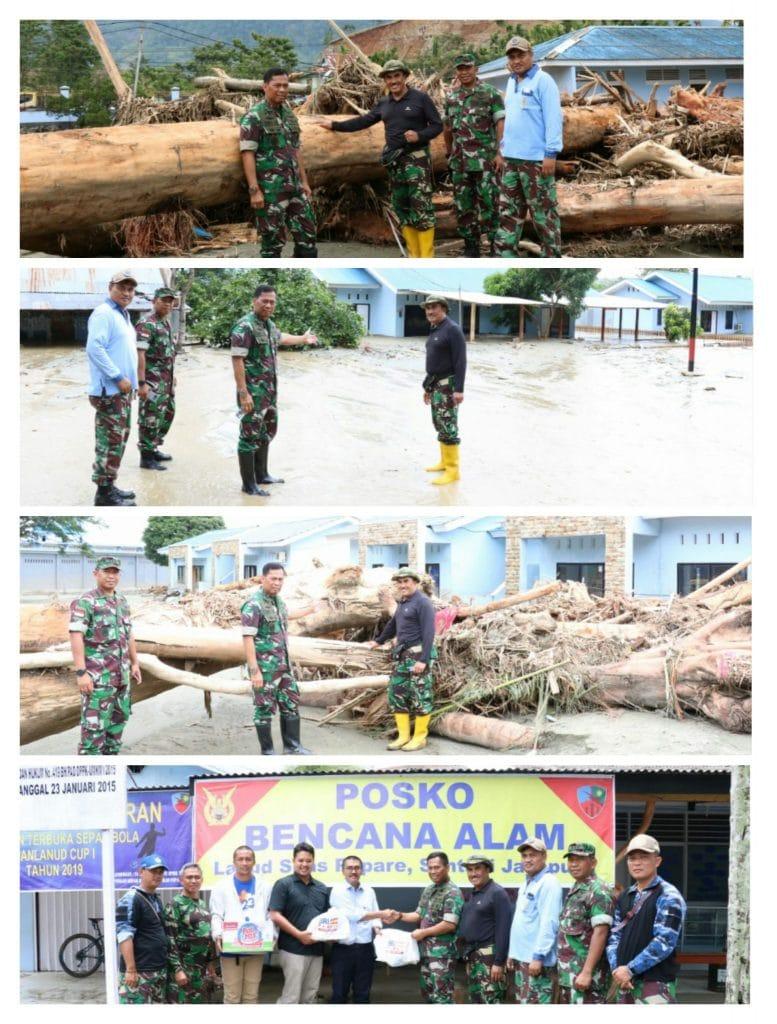 Pangkoopsau III Tinjau Langsung Banjir Bandang di Kabupaten Jayapura, Lanud Silas Papare kena dampaknya