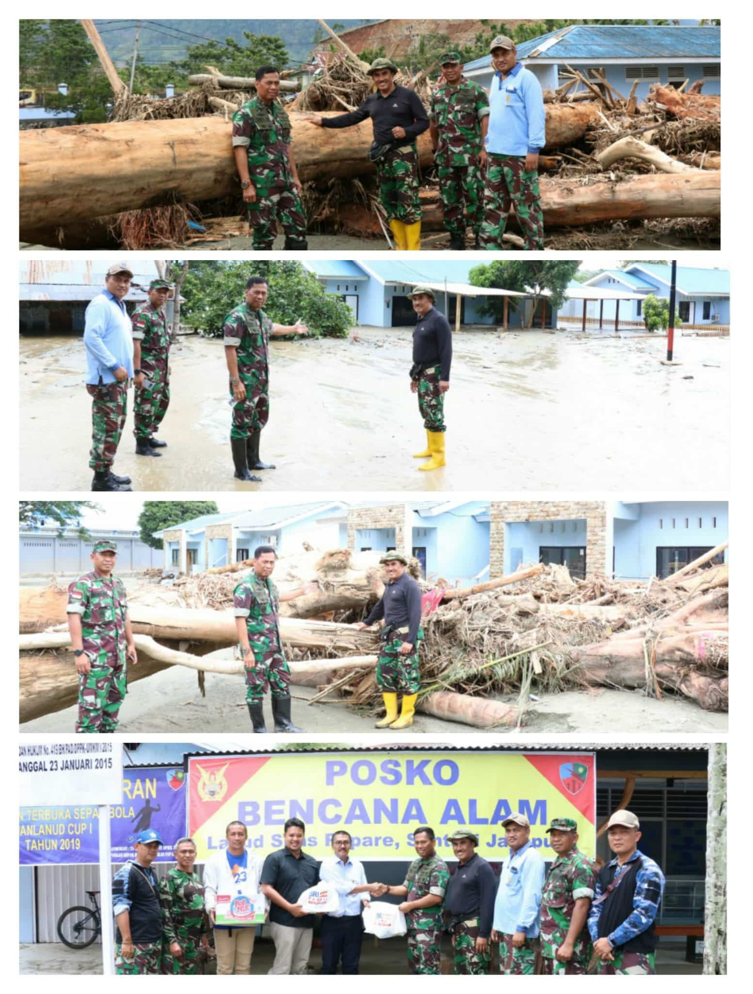 Pangkoopsau III Tinjau Langsung Banjir Bandang di Kabupaten Jayapura