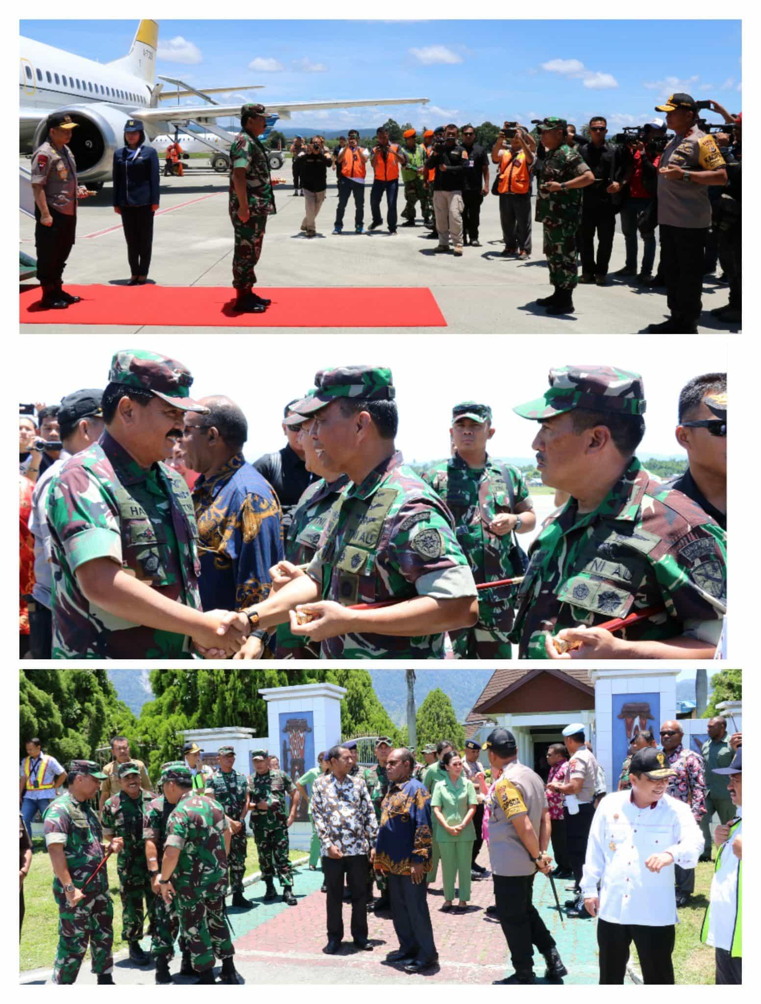 Panglima TNI dan Kapolri Tiba di Bandara Udara Sentani Jayapura