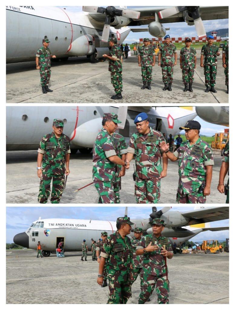 Kunjungan Kerja Pangkoopsau III Bersama Panglima TNI Tinjau Banjir Bandang