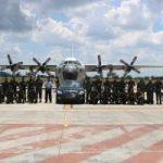 Danlanud H. AS Hanandjoeddin Sambut Kunjungan Kerja Presiden Jokowi di Bangka