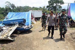 Evakuasi Terakhir Bangkai Pesawat Helikopter BO-105 M/ PK EAH