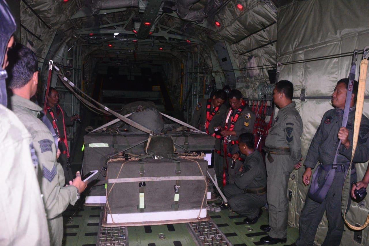 Suara Deru Mesin Pesawat, Pertanda Akhiri Manuver Lapangan Latihan Garuda Perkasa