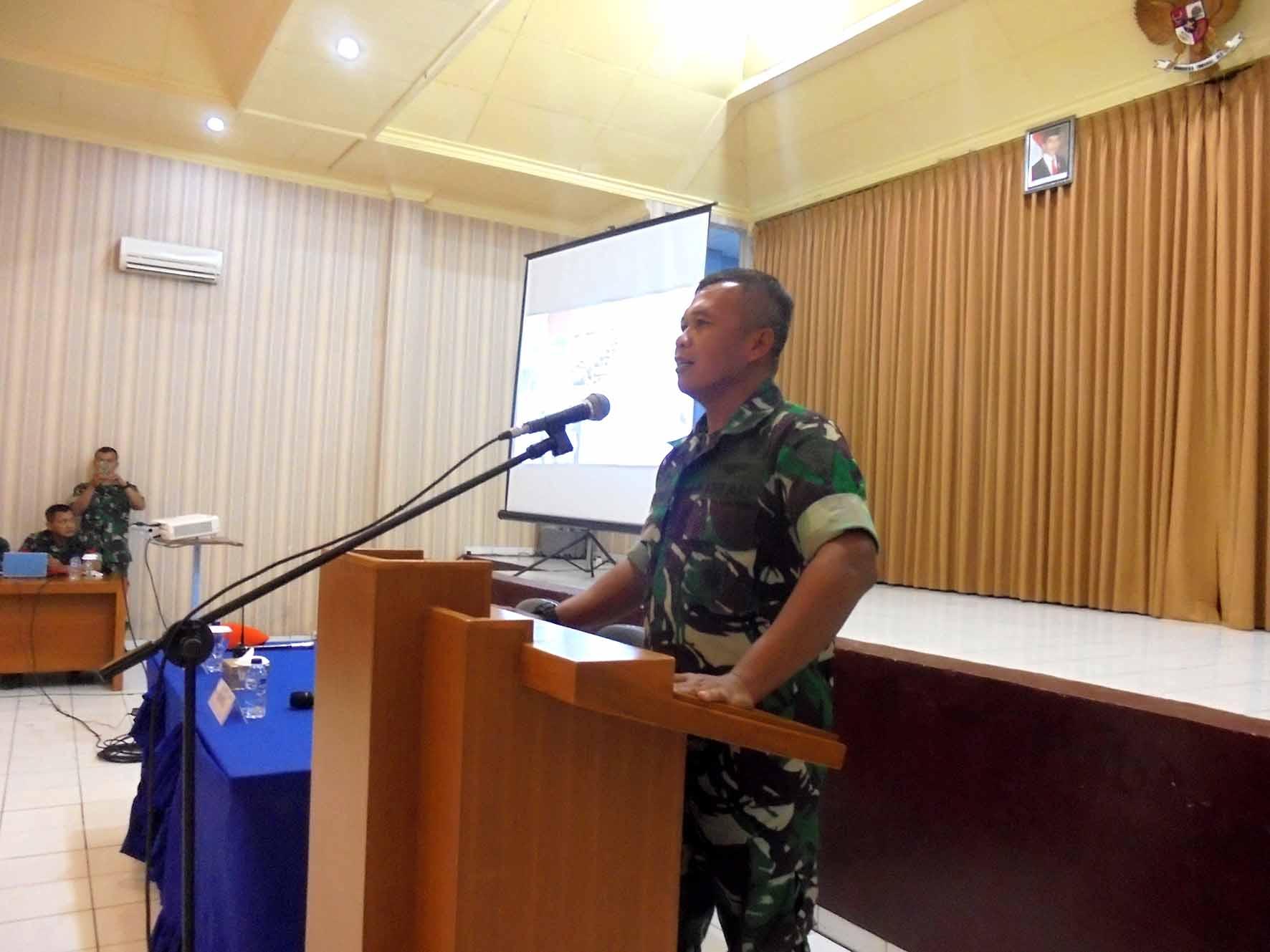 350 Personel Pusdiklat Paskhas mengikuti ceramah Lambangja