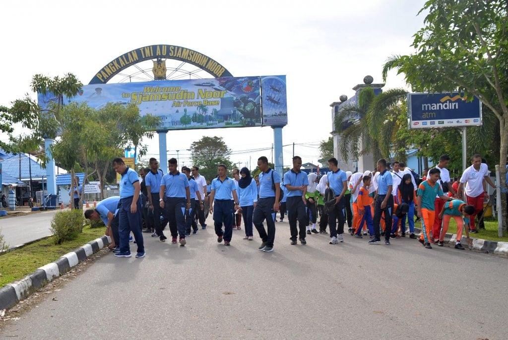 Wujudkan Gerakan Indonesia Bersih Lanud Sjamsudin Noor Gelar Peringatan HPSN 2019