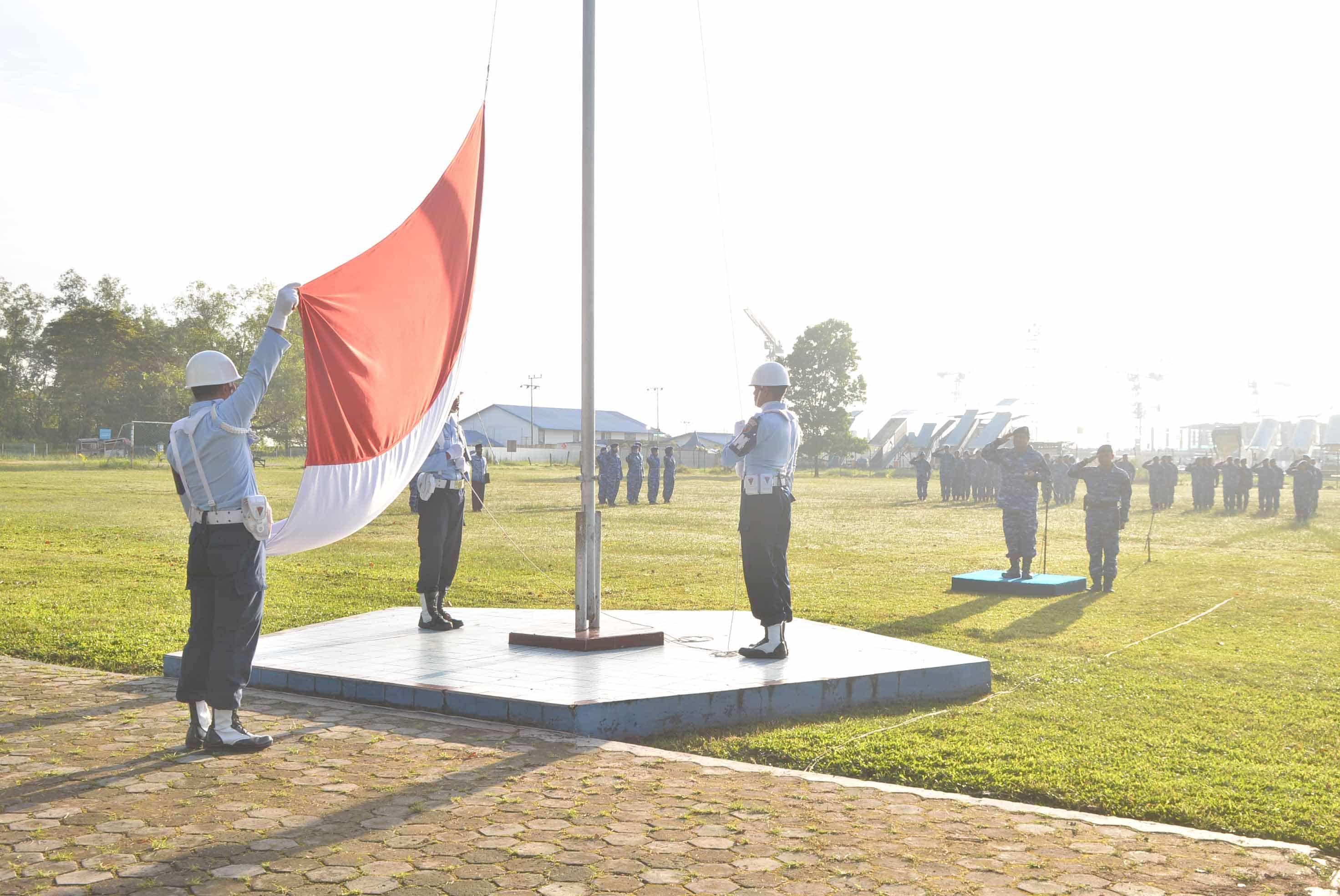 Upacara Bendera 17-an Bulan Maret 2019 di Lanud Sjamsudin Noor
