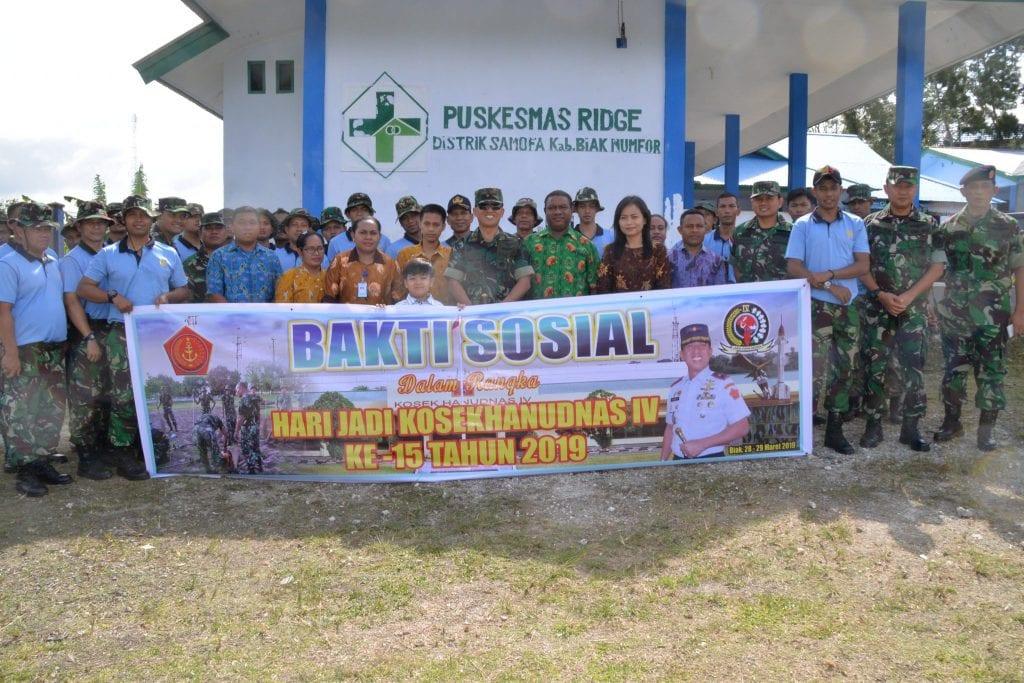 Pangkosekhanudnas IV, Tinjau Karya Bakti Kosekhanudnas IV di Distrik Samofa