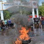 """Ratusan Pendemo Anarkis """"Ricuh"""" rusak fasilitas di Lanud Iswahjudi"""