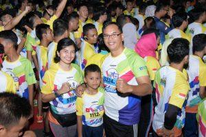 Danlanud Raja Haji Fisabilillah beserta Jajaran Ramaikan Kepri Moon Run 2019