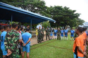 Hut Ke-73 TNI AU: Lanud Sultan Hasanuddin Gelar Pertandingan Sepak Bola