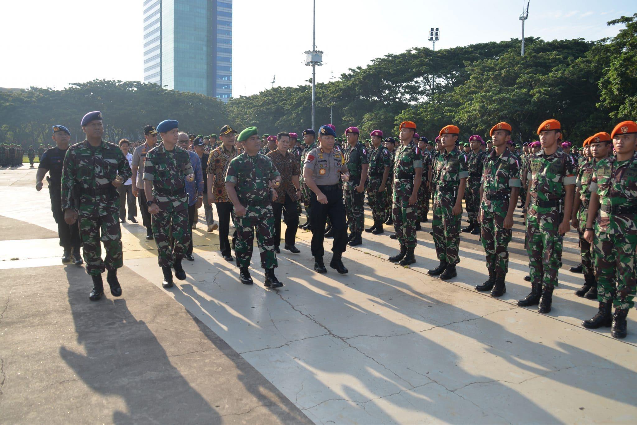 Gelar Pasukan Pengamanan Pemilu 2019 di Makassar