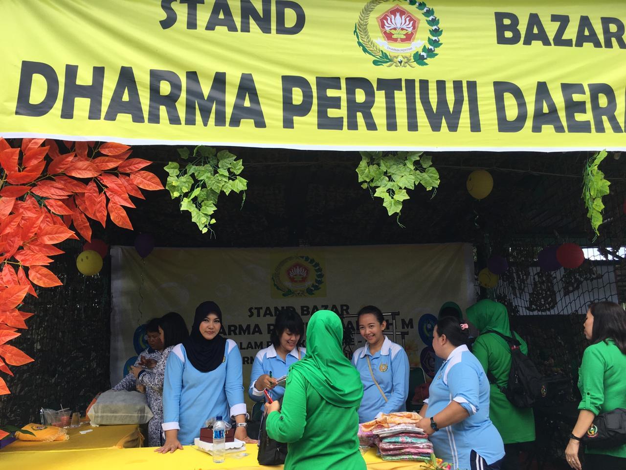 Bazar Dalam Rangka Hut Dharma Pertiwi Ke 55 Tahun 2019 Di Kodam XIII Merdeka, Manado.