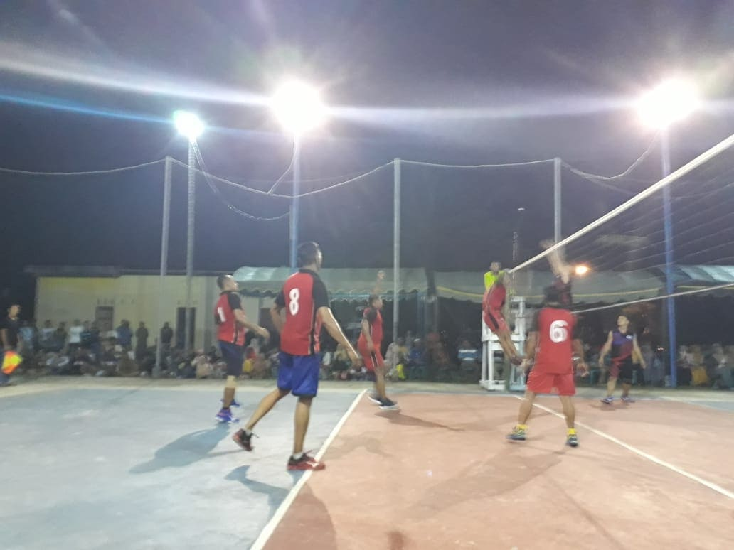 Kemenangan Perdana Team bola volly Angkasa Di Turnamen Bola Volly Amco Cup II