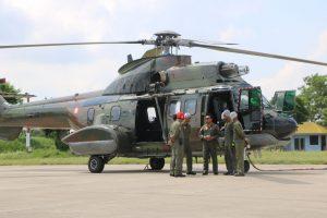 Posko Tanggap Bencana Siap Ditutup, Helikopter Super Puma TNI AU Pantau Terus dari Udara