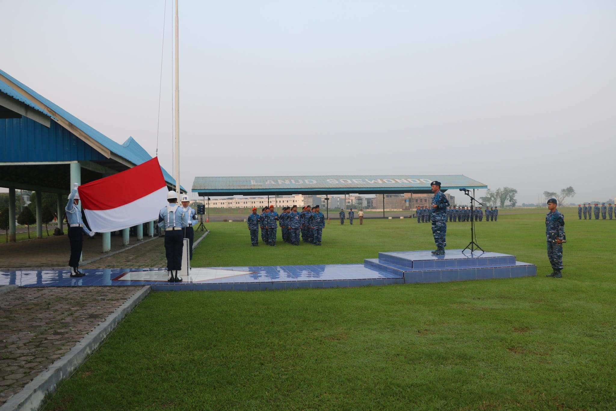 Upacara Bendera Tujuh Belasan di Lanud Soewondo