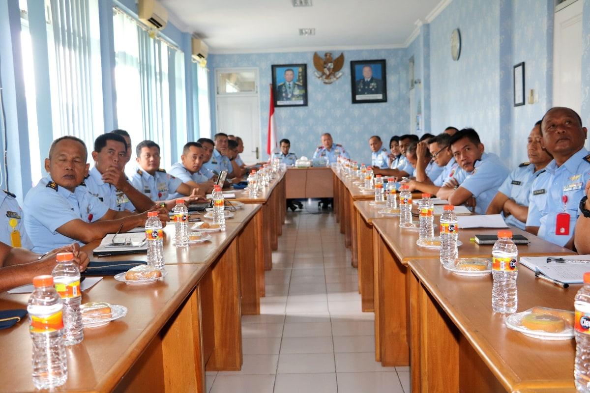 Kunjungan Tim Wasrik Itjenau di Lanud Muljono