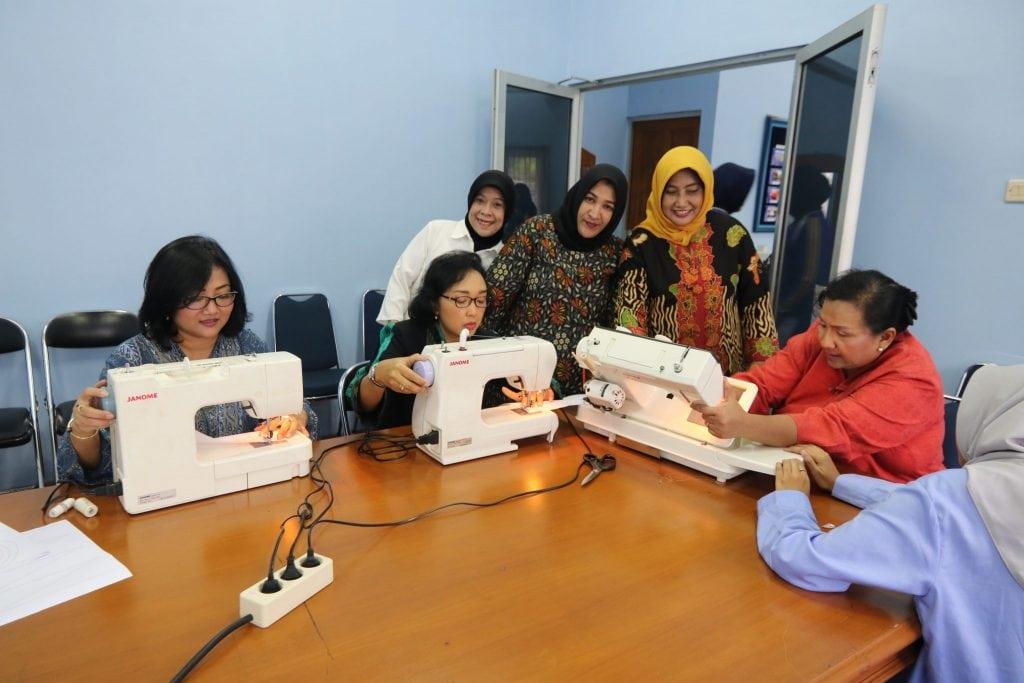 Kunjungan Ketua PIA Ardhya Garini Gabungan I Mabesau di Puspomau