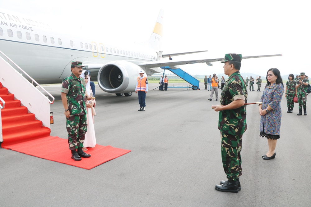 Danlanud Abd Saleh Sambut Rombongan Panglima TNI