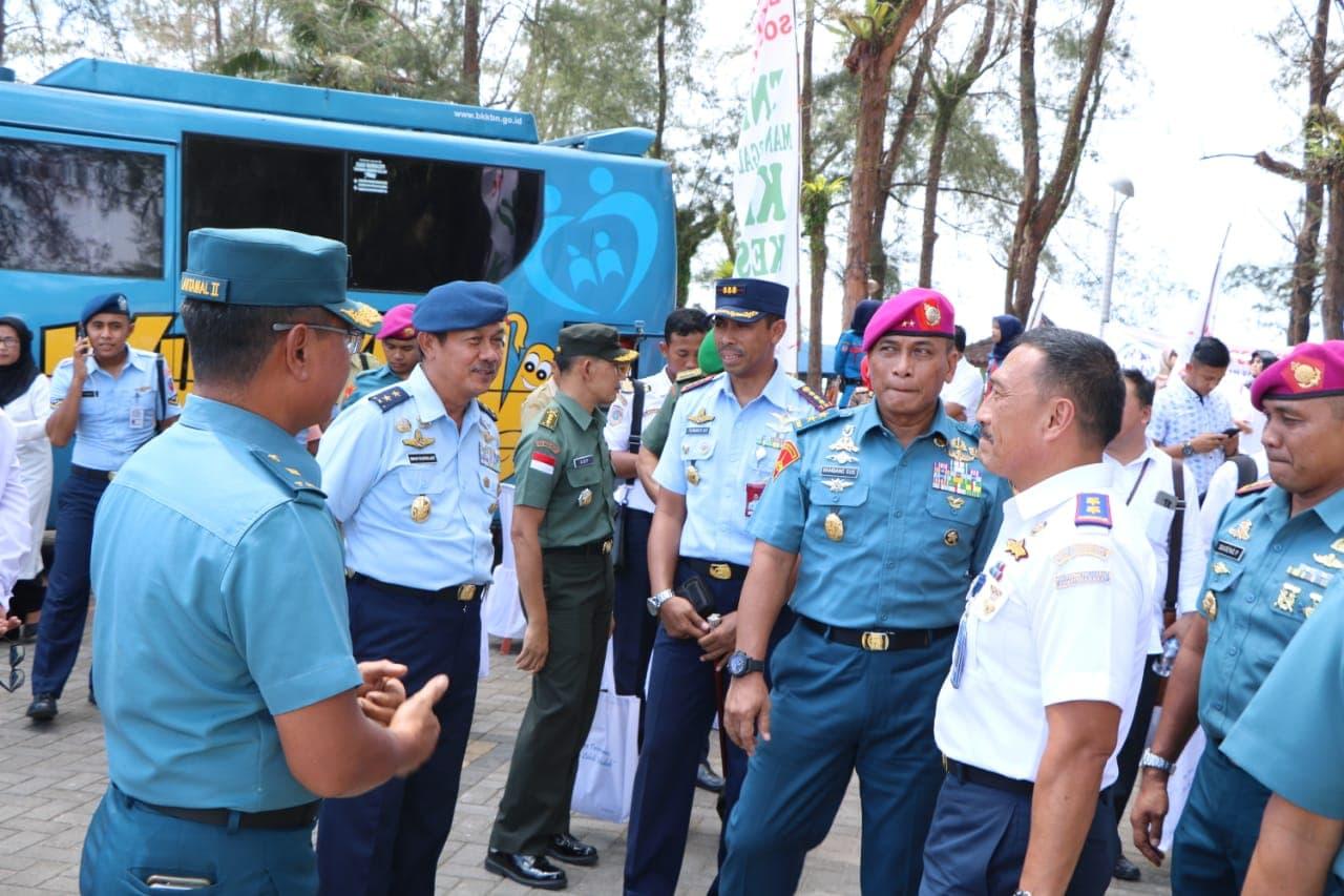 Komandan Lanud Sutan Sjahrir Dampingi Aspotdirga