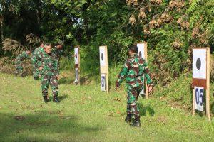 Asah Kemahiran dan Profesional Prajurit, Lanud Sutan Sjahrir Gelar Latihan Menembak