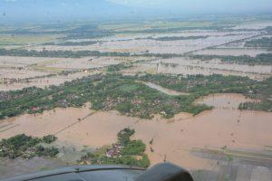 Bencana Banjir di Karesidenan Madiun, Dipantau Menggunakan Heli Super Puma TNI AU
