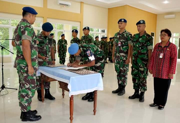 Tim Seleksi Penerimaan Catam TNI AU Gel. I Tahun 2019 Lanud J.B. Soedirman Tandatangani Pakta Integritas