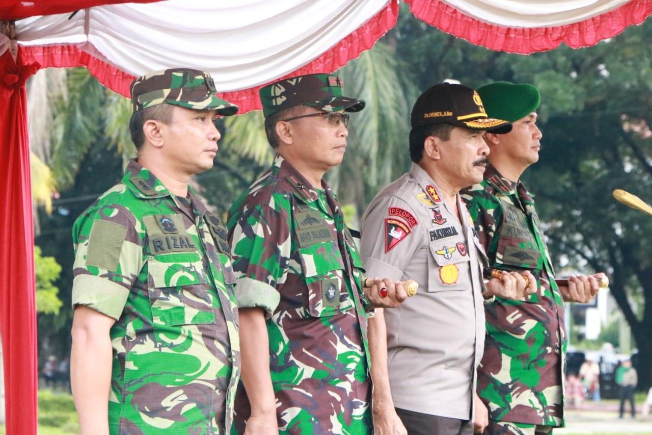 Gelar Pasukan Pengamanan Pemilu 2019 di Lapangan Imam Bonjol Padang