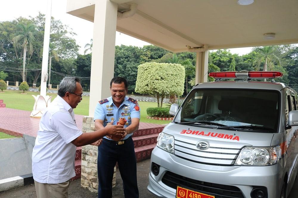 Kosekhanudnas I Terima 1 Unit Mobil Ambulance dari Bank BRI