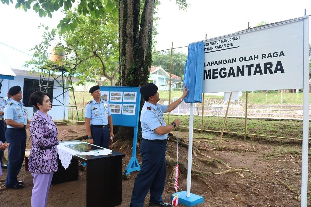 Pangkosekhanudnas I Resmikan Lapang Olahraga Megantara di Satrad 216 Cibalimbing