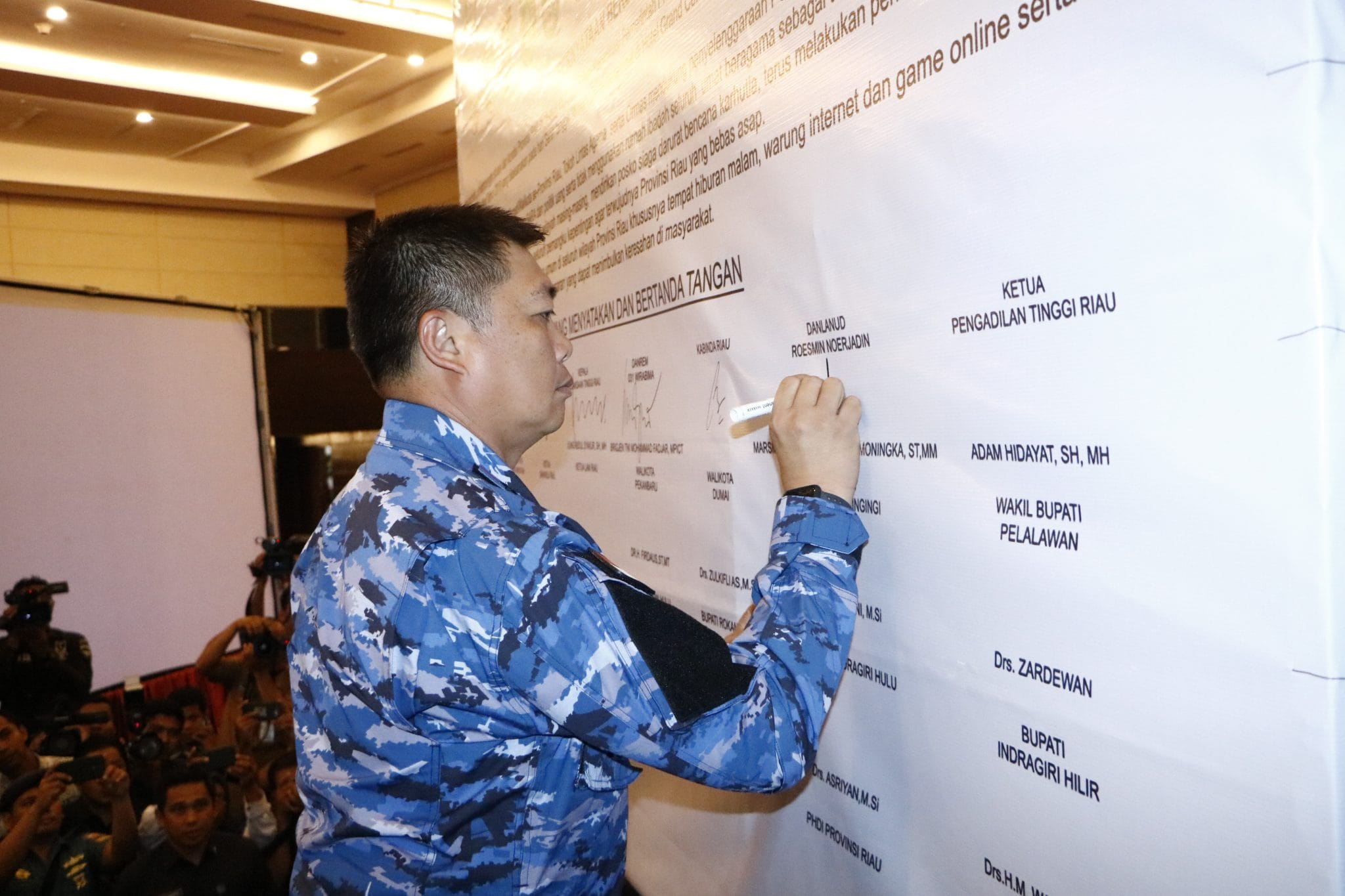 Komandan Lanud Rsn Hadiri Penandatanganan Kesepakatan Bersama