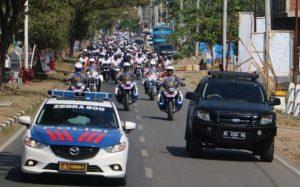 Danlanud Sim Ikut Konvoi Millenial Road Safety Festival Polda Aceh
