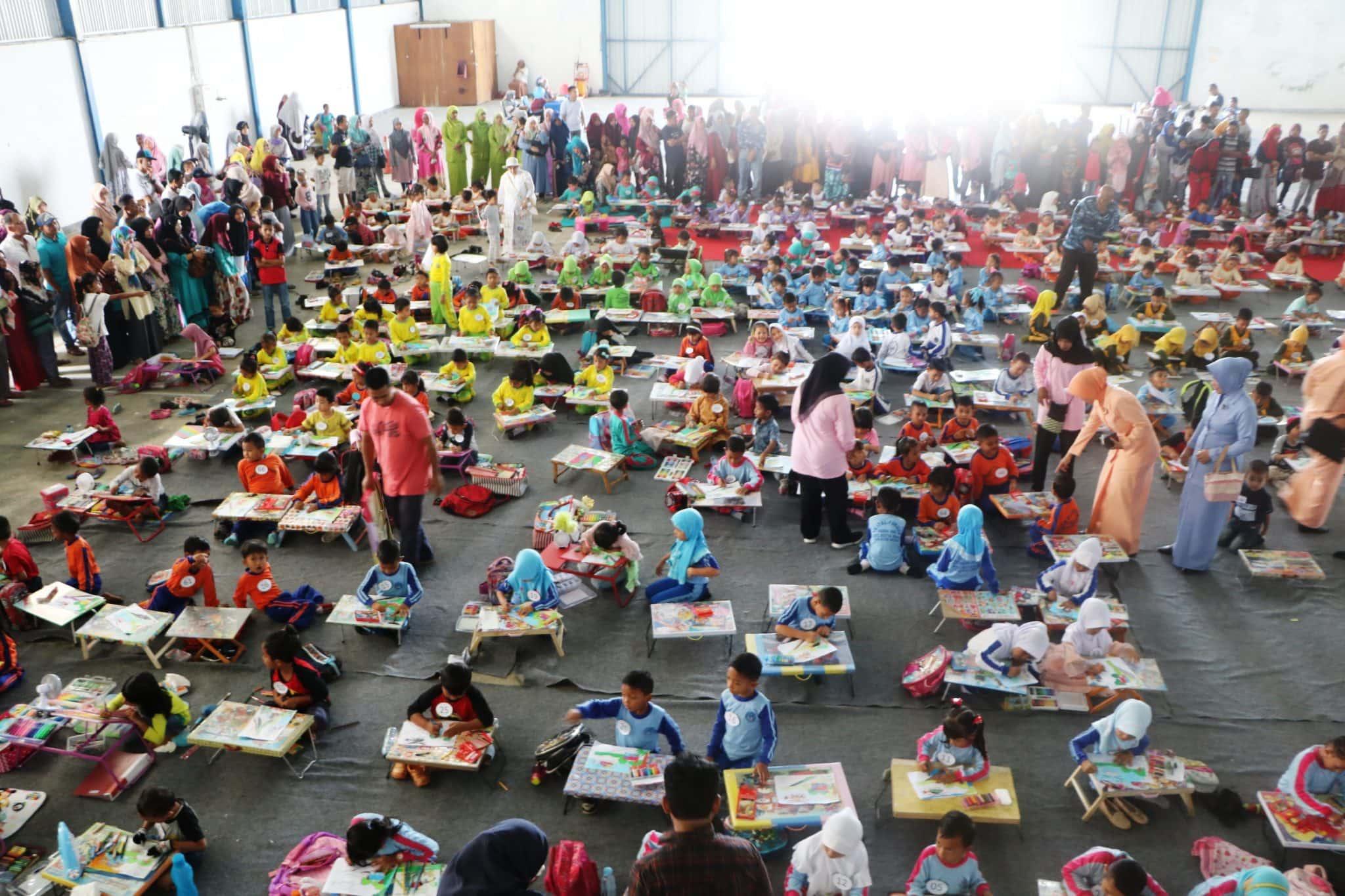 Ratusan Anak Penuhi GOR Praka Sutrisno Lanud Sim